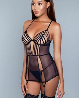 Be Wicked Jessica Striped Sheer Chemise