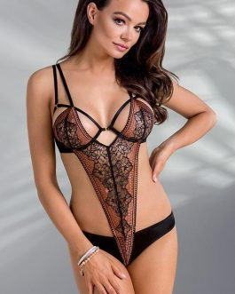 Casmir Mirella Cut-Out Lace & Satin Bodysuit