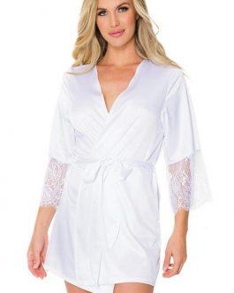 Coquette Adore You White Satin Robe