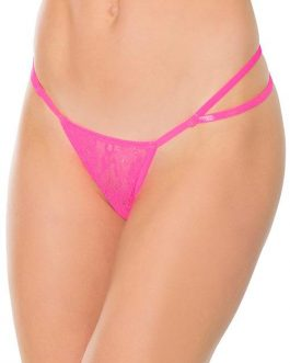 Coquette Daily Hustle Pink Lace G-String