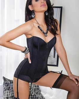 Coquette Lady is a Vamp Stretch Knit Corset