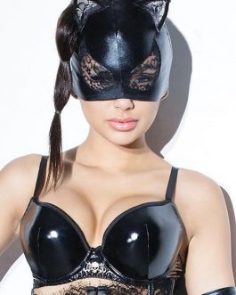 Coquette Simply Scandalous Cat Mask with Lace Accents