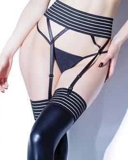 Coquette Striped Bare Garter Belt