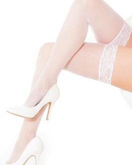 Coquette Top Drawer White Lace Stay-Up Thigh Highs
