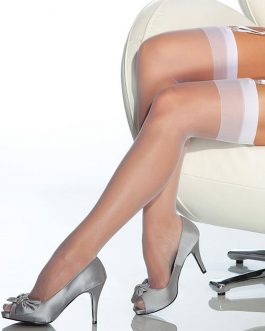 Coquette Top Drawer White Thigh High Stockings