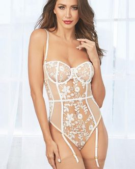 Dreamgirl Save The Date Mesh & Lace Bodysuit