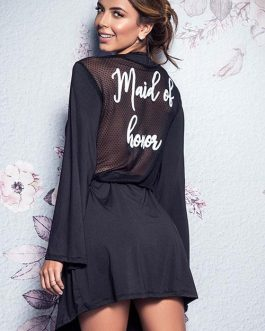 Mapale by Espiral Forever Yours Maid of Honor Robe with G-String