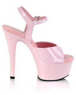 Pleaser Aspire 6″ Pink Vegan Platforrm Sandal
