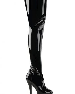 Pleaser Kiss 6″ Heel Patent Thigh High Platform Boot