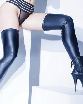 Coquette Raven Stay-Up Thigh Highs