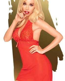 Penthouse Sweet & Spicy Red Babydoll with Thong